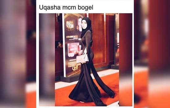 Isu Fesyen Uqasha Senrose dah macam telanjang