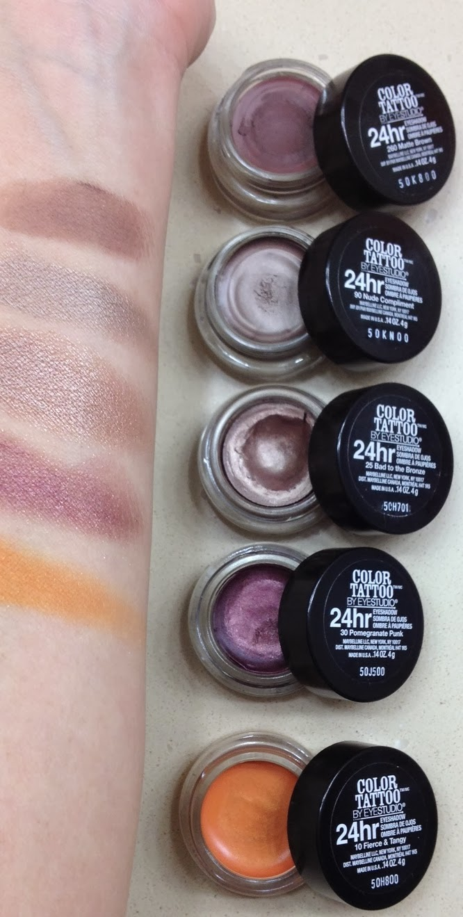 Life lipstick and lattes maybelline color tattoo cream for Maybelline color tattoo gel eyeshadow