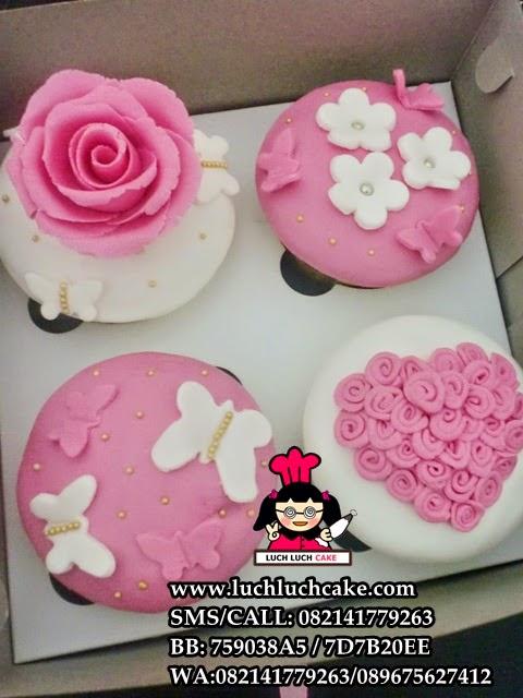 Cupcake Mawar Pink Elegant Untuk Wedding Daerah Surabaya - Sidoarjo
