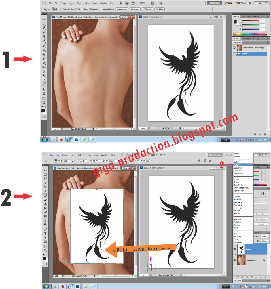 PHOTOSHOP EDITING Cara Membuat Tattoo Dengan Photoshop