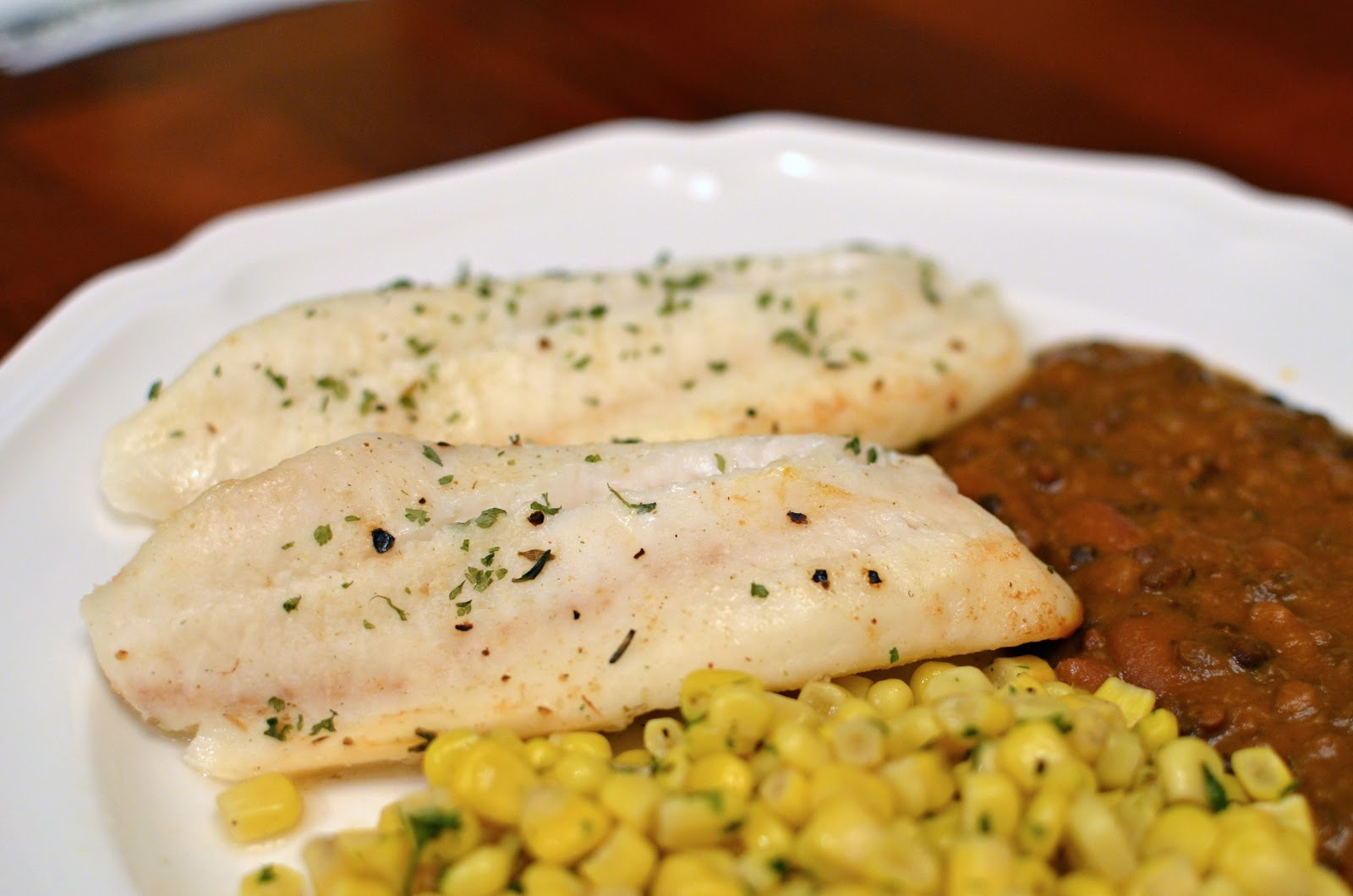 Butteryum oven baked tilapia with butter lemon and chervil for How to bake tilapia fish in the oven