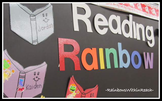 photo of: Reading Rainbow Bulletin Board (from Bulletin Board RoundUP via RainbowsWithinReach)