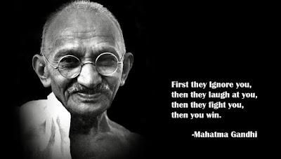 Kata Kata Mutiara Mahatma Gandhi dalam Bahasa Inggris dan Artinya