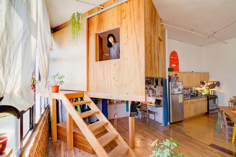 cabaña de madera dentro de tu propia casa