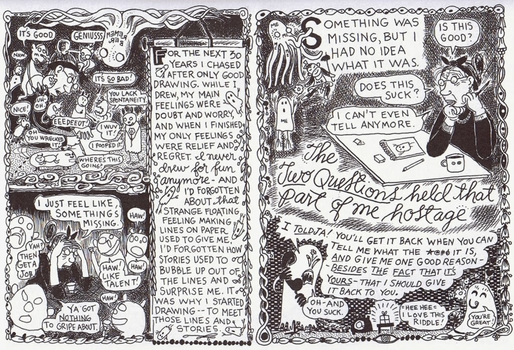 lynda barry Don't let them get you down renowned cartoonist lynda barry shows that as  long as you can write the alphabet, you can make comics.