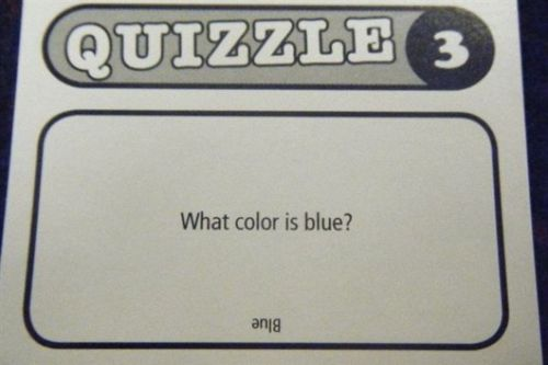 A Quite Tricky Question - What Color Is Blue?