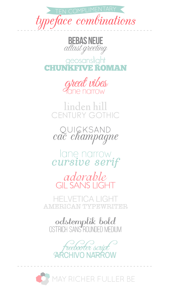 10 lovely complimentary typeface combinations m4hsunfo