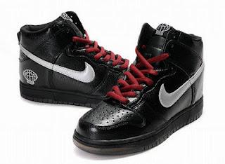 50fccfded Nikes Custom Pharrell Dunks High Tops Men Sneakers All Black ...