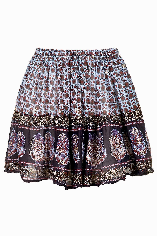 festival style skirt 2015, wild past print skirt,