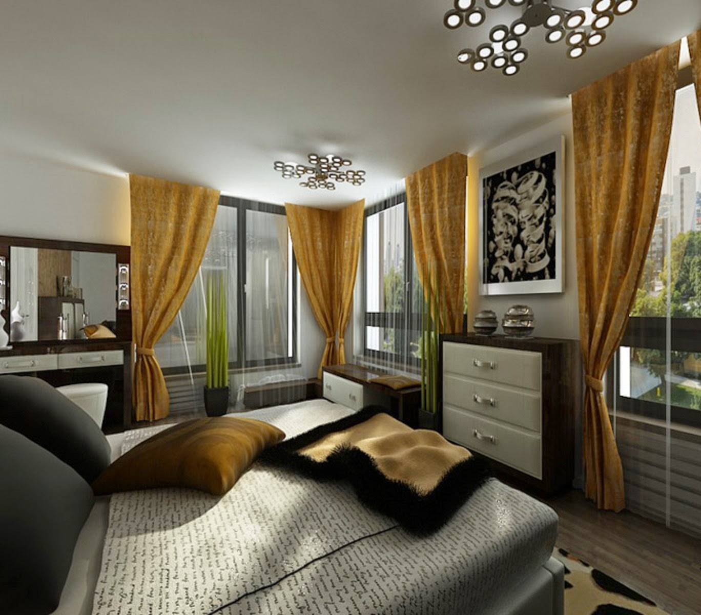 Dynamic views most beautiful bedroom interior designs for Beautiful bedroom interior