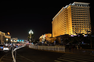 Chang'An Avenue and the Beijing Hotel at night