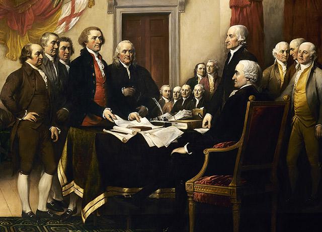 Podpisanie Deklaracji Niepodległości Stanów Zjednoczonych