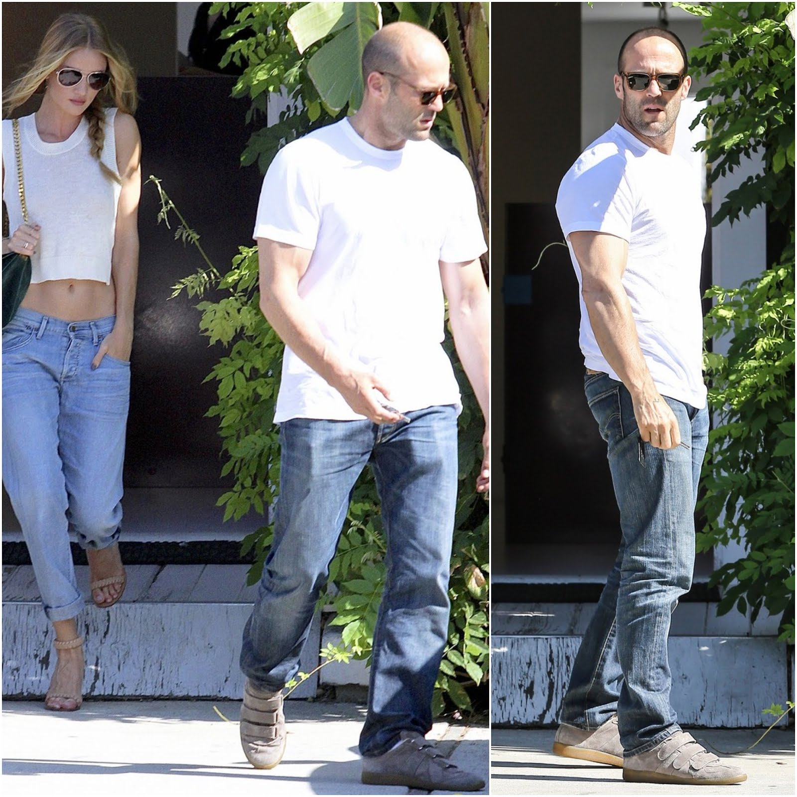 00O00 Menswear Blog London Celebrity Style Jason Statham Rosie Huntington Whiteley Hollywood Margiela sneakers