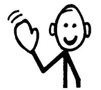 muñeco palo saludando