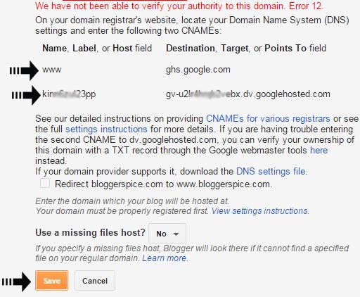 set domain