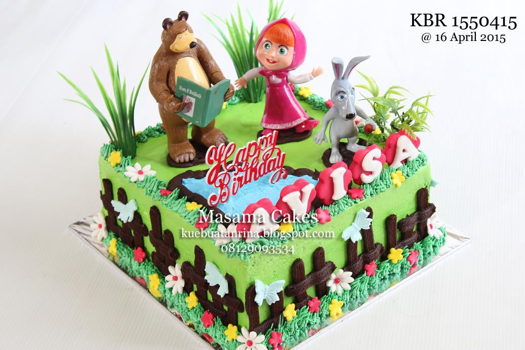 Masama Cakes Marsha And The Bear Birthday Cake For Avisa