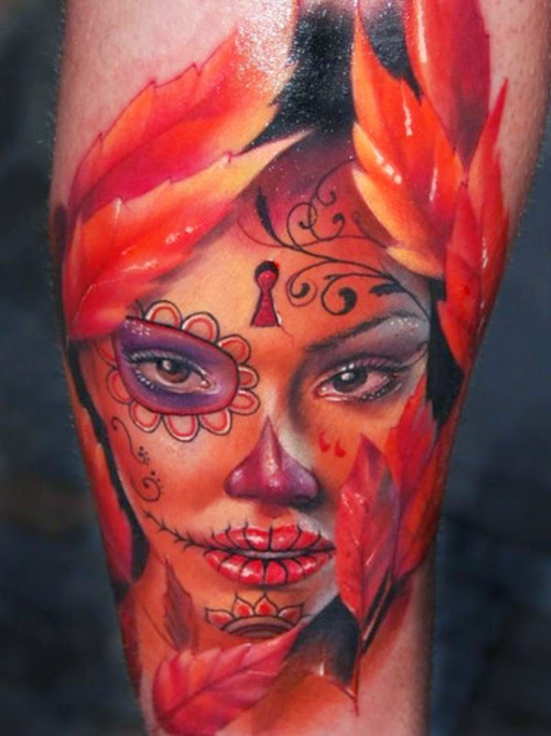 Fantastic Catrina Tattoos Design Idea