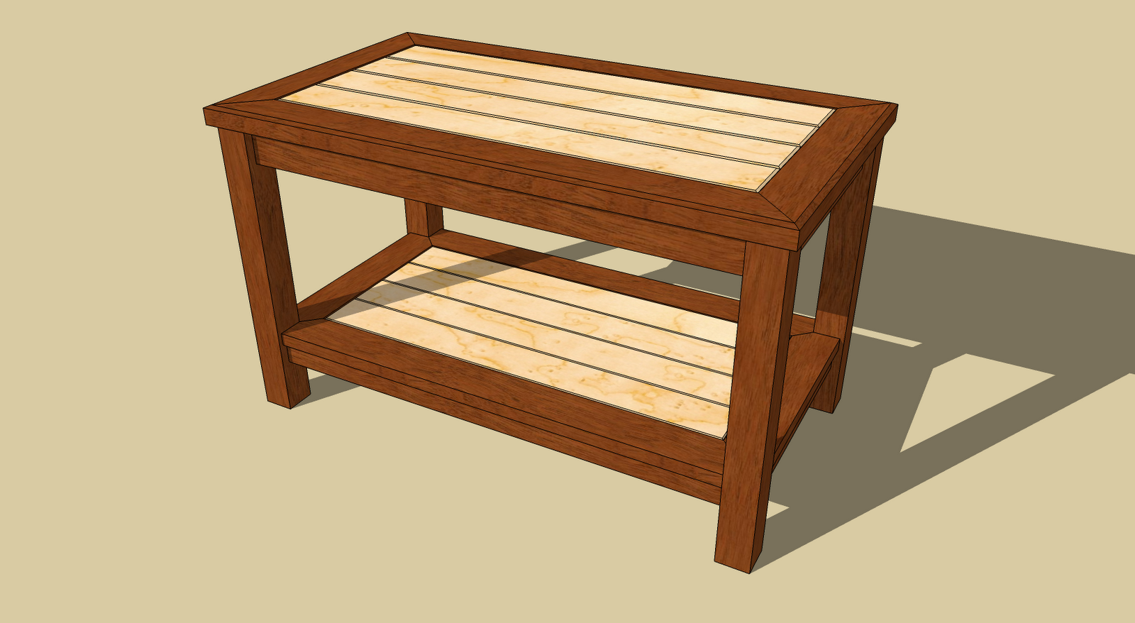 woodfever.net: Coffee Table Woodworking Plan