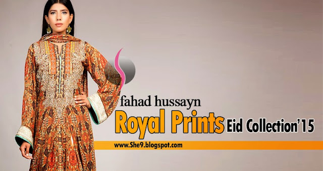 Fahad Hussayn's Royal Printed Dresses for Eid