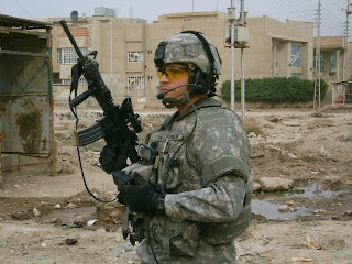 Twin Brother Robert McCormick in Iraq.