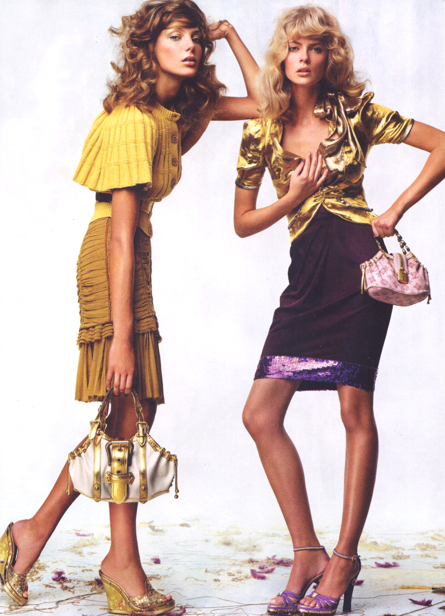 Daria Werbowy & Julia Stegner wearing Louis Vuitton by Marc Jacobs Spring/Summer 2004 photographed by Craig McDean for Pretty woman / Vogue US January 2004 via fashioned by love british fashion blog