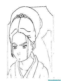 Mewarnai Gambar Putri Azula Dalam Serial Avatar The Legend Of Aang