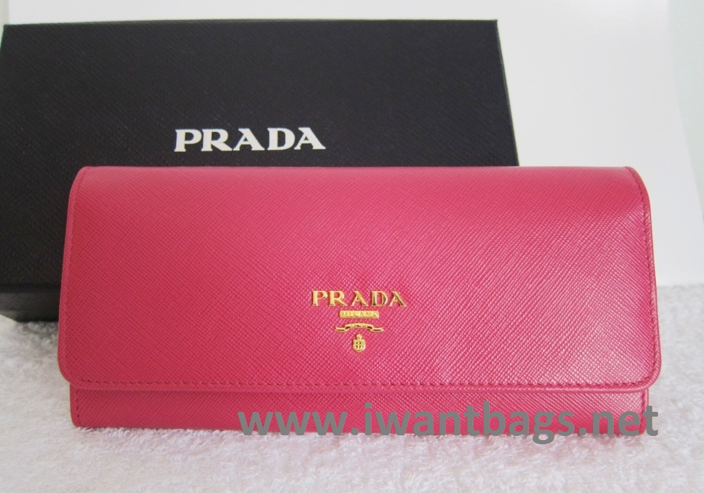 cheap prada handbags - prada pink leather wallet