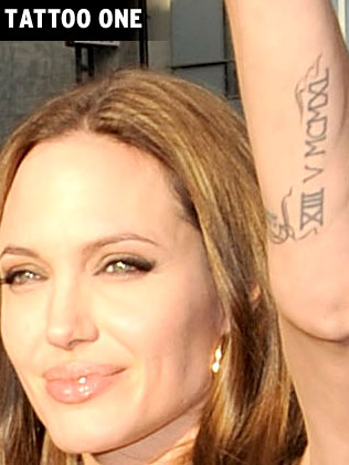 Angelina Jolie Tattoo Fashion