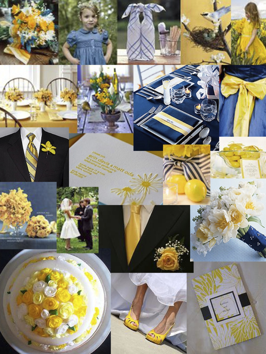 gallery for yellow and navy blue wedding theme