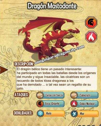 imagen de las caracteristicas del dragon mastodonte
