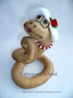 змея 2013, мастер-класс, шитье, куклы, текстильные, Новогодние идеи,
