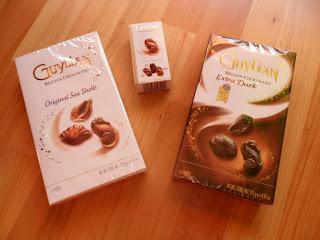 Test belgische Meeresfrüchte Pralinen lecker Schokolade Blog
