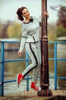 Trening bumbac gri insertii ecopiele (Atmosphere Fashion)