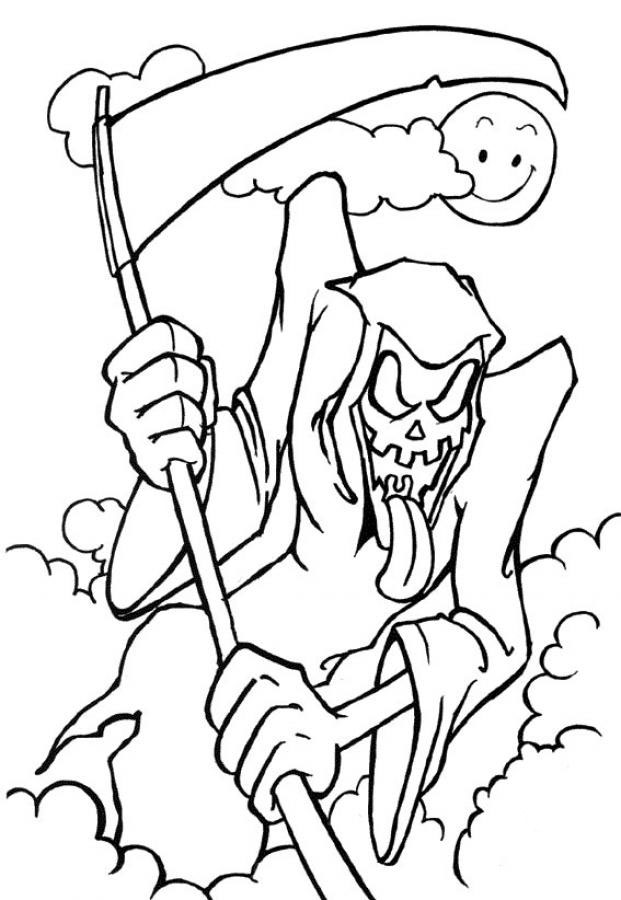 Astounding image intended for spooky halloween coloring pages printable