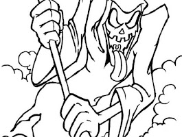Scary Halloween Coloring Pages For Adults