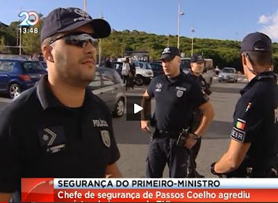 Segurança do primeiro-ministro agride repórter de imagem