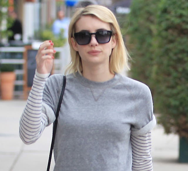 Actress, Singer, @ Emma Roberts effortlessly chic and casual running errands in Beverly Hills