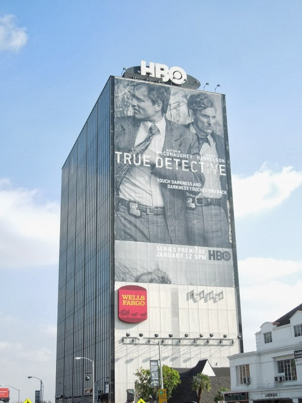 Giant True Detectives series premiere billboard