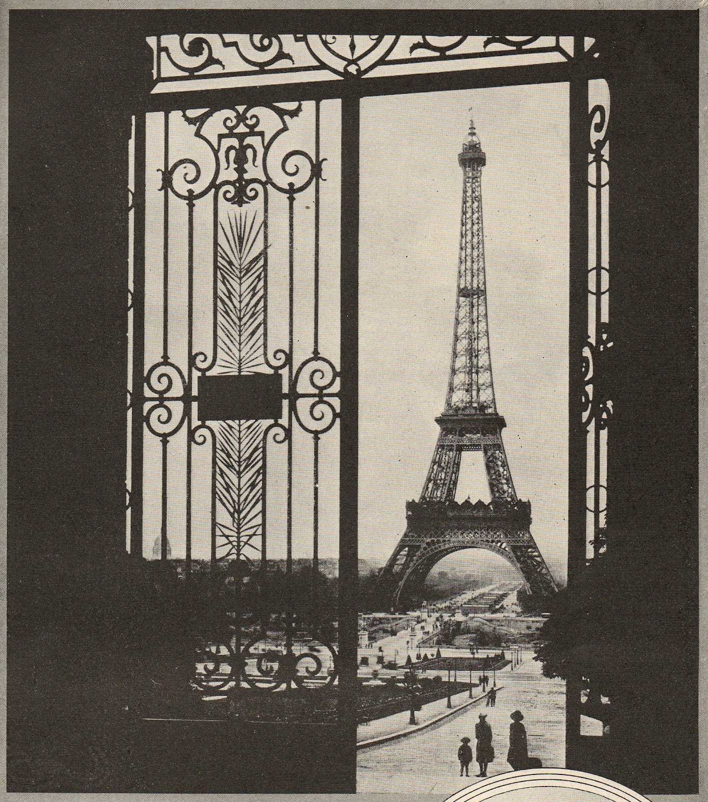 Leaping Frog Designs Hello Paris Vintage Eiffel Tower Image