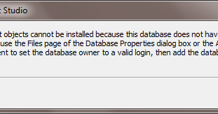 Sql server database diagram support objects cannot be installed sql server database diagram support objects cannot be installed because this database does not have a valid owner ccuart Images