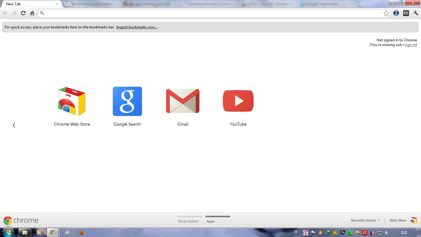 Google Chrome Homepage