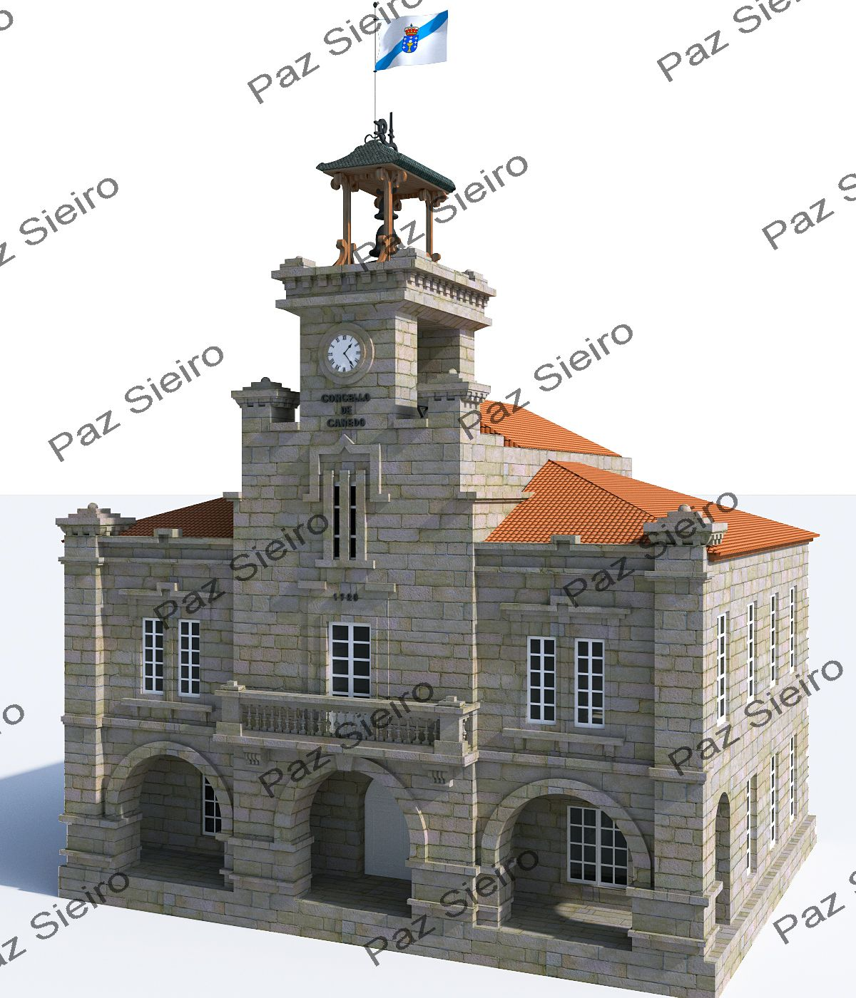 Edificio concello de ponte canedo 1920 ourense - Arquitectos ourense ...