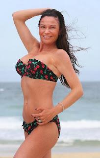 Lucy Pargeter floral bikini Queensland, Australia