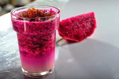 Jus buah naga merah sehat dan segar