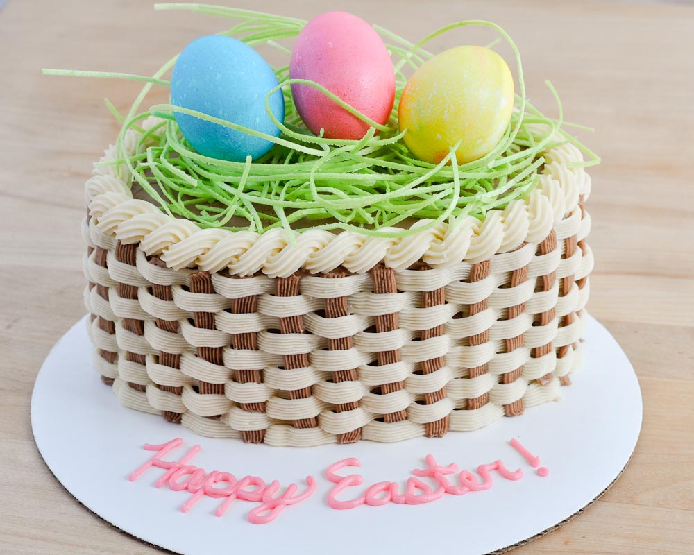 Beki cooks cake blog happy easter sweet treat ideas easter basket cake negle
