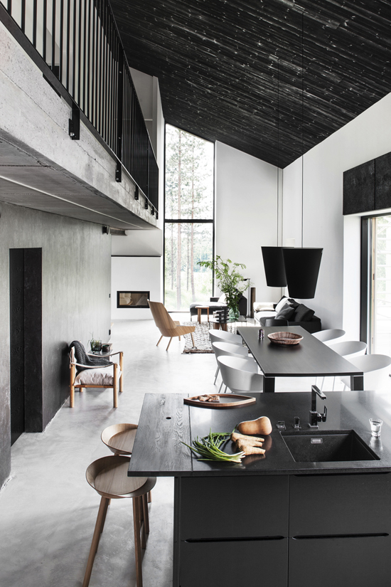 Black interiors inspiration via @dekomagazine