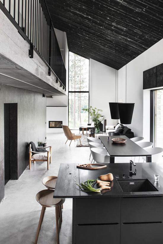 Black interiors inspiration via @dekomagazine