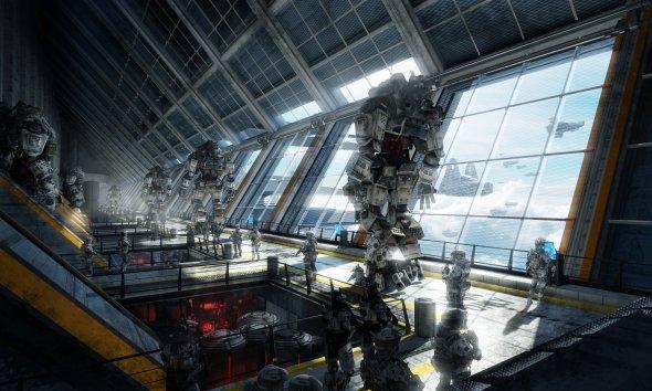Tu Bui 2buiart deviantart ilustrações ficção científica robôs mechas soldados futuristas game titanfall