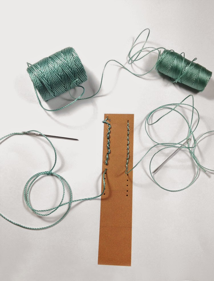 Comparing Hand Sewing with C-Lon Bead Cord & C-Lon Tex 400 Bead Cord