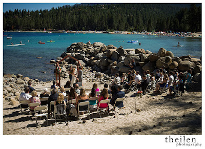 Meeks Bay Resort Wedding Ceremony l Theilen Photography l Take the Cake Event Planning